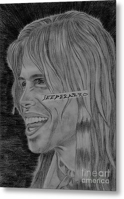 Metal Print featuring the drawing Steven Tyler Portrait Image Pictures by Jeepee Aero