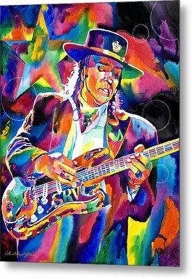 Stevie Ray Vaughan Metal Print by David Lloyd Glover