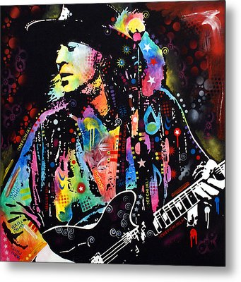Metal Print featuring the painting Stevie Ray Vaughan by Dean Russo