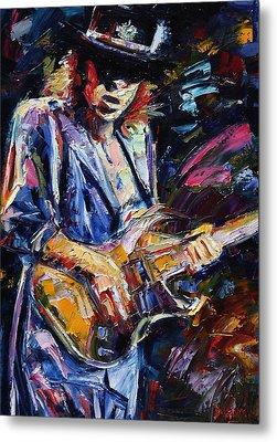 Stevie Ray Vaughan Metal Print by Debra Hurd