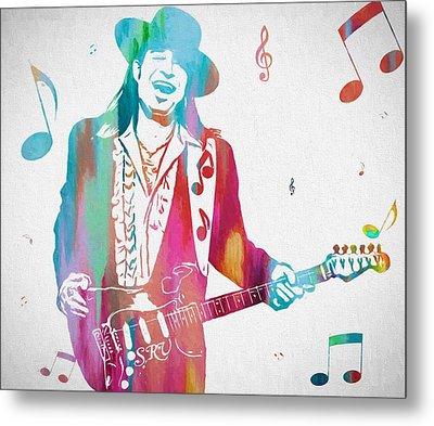 Stevie Ray Vaughan Music Man Metal Print