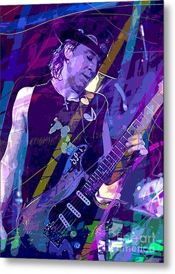 Stevie Ray Vaughan Sustain Metal Print by David Lloyd Glover