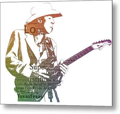 Stevie Ray Vaughan Typography Metal Print