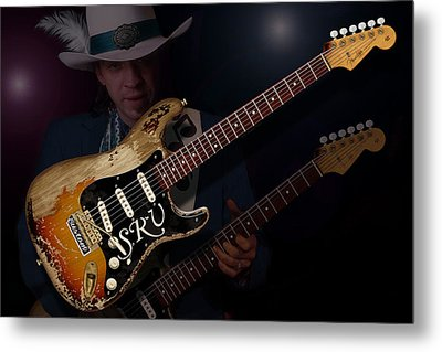 Stevie Ray Vaughan Metal Print by WB Johnston