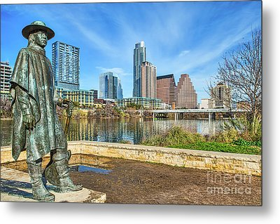 Stevie Ray Vaughn Statue Metal Print by Tod and Cynthia Grubbs