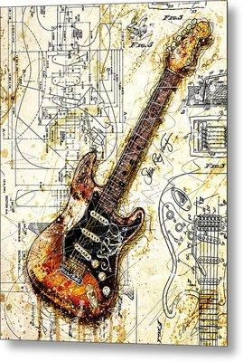 Stevie's Guitar Metal Print