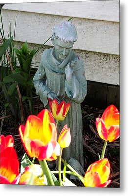 St.francis Metal Print by Judy Via-Wolff