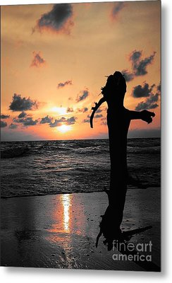 Still By Sea Metal Print