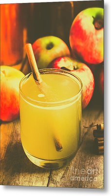 Still Life Apple Cider Beverage Metal Print by Jorgo Photography - Wall Art Gallery