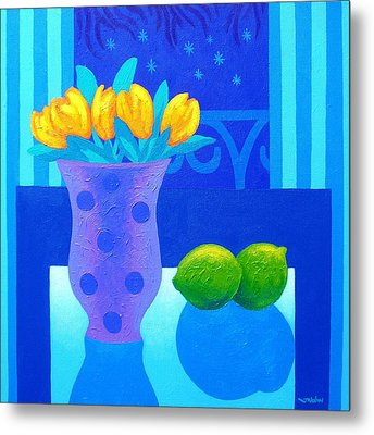 Still Life At Window IIi Metal Print by John  Nolan