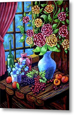 Still Life By The Window Metal Print