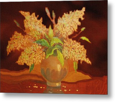 Still Life For Mathilda H B Metal Print by Gert J Rheeders
