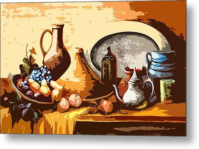 Still Life In Morocco Metal Print