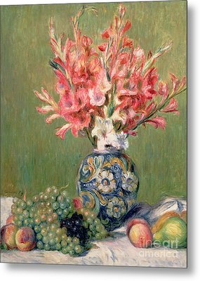 Still Life Of Fruits And Flowers Metal Print by Pierre Auguste Renoir