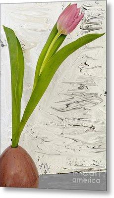 Metal Print featuring the photograph Still Life Tulip by Marsha Heiken