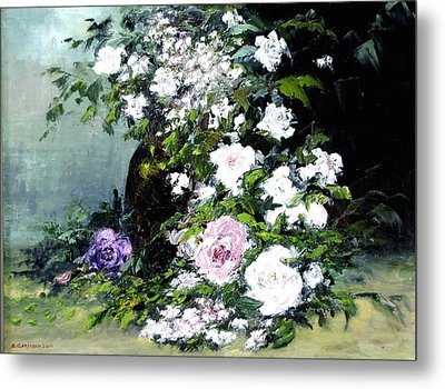Still Life W/flowers Metal Print