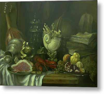 Still-life With A Lobster Metal Print