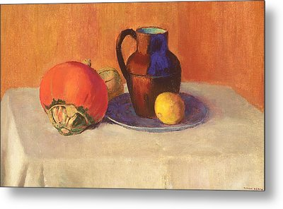 Still Life With A Pitcher Metal Print