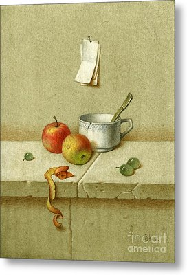 Still Life With A Teacup Metal Print