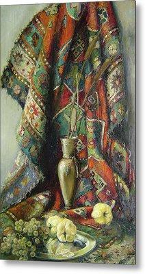 Still-life With An Old Rug Metal Print by Tigran Ghulyan