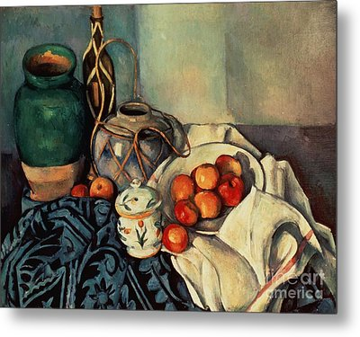 Still Life With Apples Metal Print by Paul Cezanne