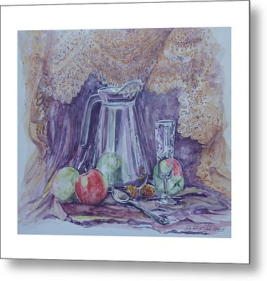 Still Life With Apples Metal Print by Rita Fetisov