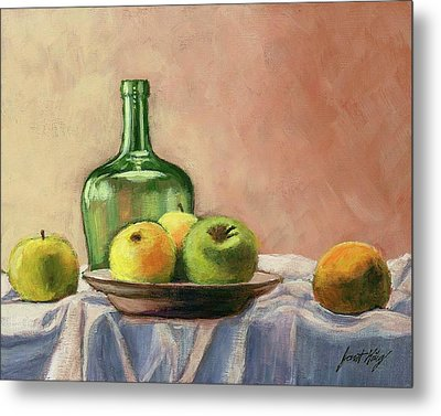 Still Life With Bottle Metal Print by Janet King
