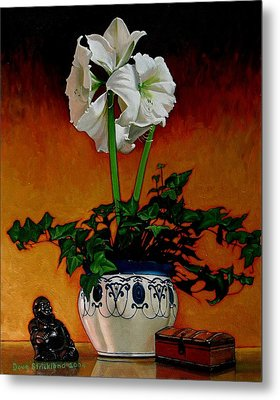 Still Life With Buddha Metal Print by Doug Strickland