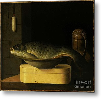 Still Life With Carp  Metal Print by MotionAge Designs