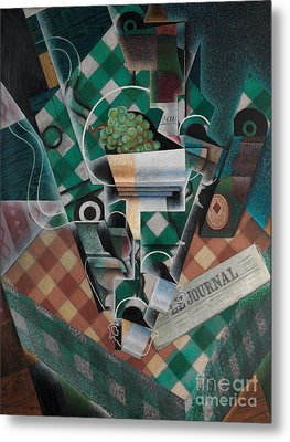 Still Life With Checked Tablecloth, 1915 Metal Print by Juan Gris