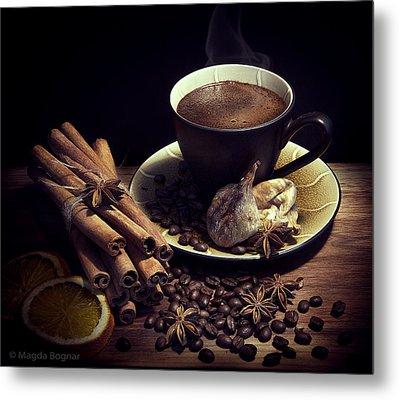 Still Life With Coffee Metal Print by Magda  Bognar