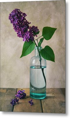 Metal Print featuring the photograph Still Life With Fresh Lilac by Jaroslaw Blaminsky