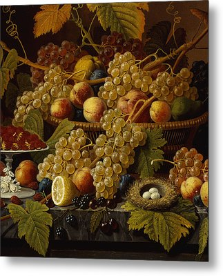 Still Life With Fruit, 1854 Metal Print by Severin Roesen