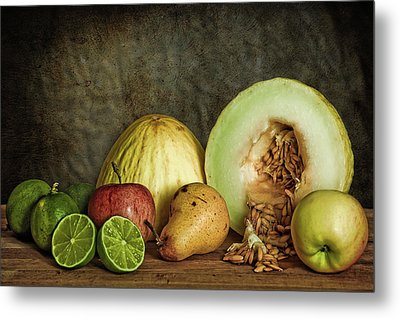 Metal Print featuring the photograph Still Life With Fruit by Stefan Nielsen