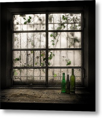 Still-life With Glass Bottle Metal Print by Vito Guarino