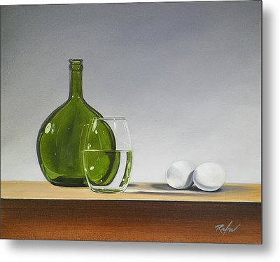 Still Life With Green Bottle Metal Print
