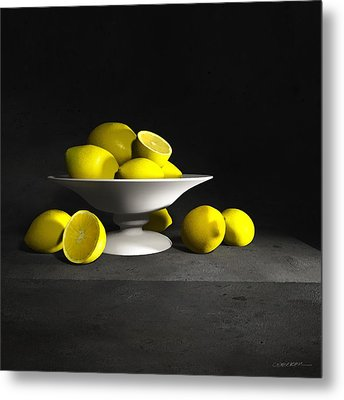 Still Life With Lemons Metal Print by Cynthia Decker