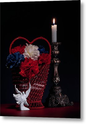 Still Life With Lovebirds Metal Print by Tom Mc Nemar