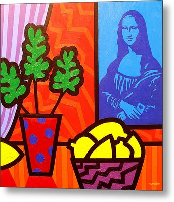 Still Life With Matisse And Mona Lisa Metal Print