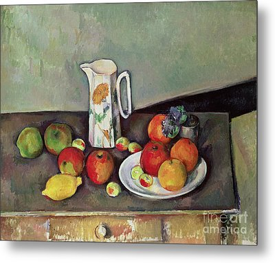 Still Life With Milkjug And Fruit Metal Print