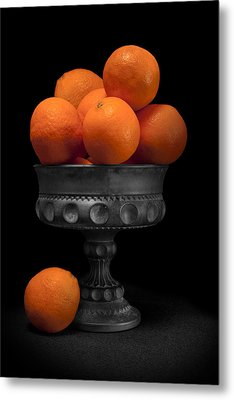 Still Life With Oranges Metal Print by Tom Mc Nemar