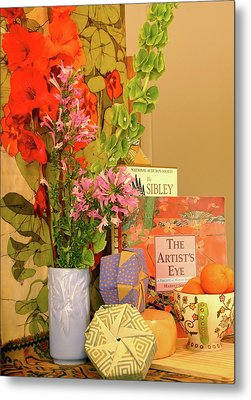 Still-life With Origami Boxes Metal Print