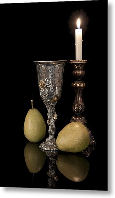 Still Life With Pears Metal Print by Tom Mc Nemar