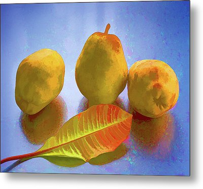 Still Life With Pears Metal Print by Vladimir Kholostykh