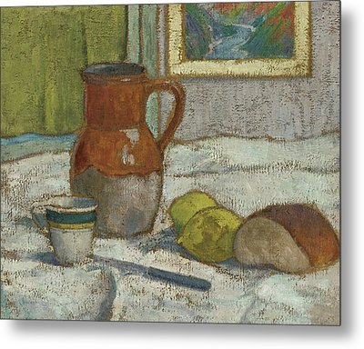 Still Life With Pitcher And Cup Metal Print