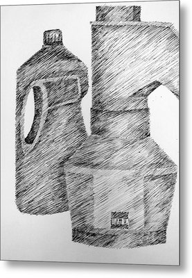 Still Life With Popcorn Maker And Laundry Soap Bottle Metal Print by Michelle Calkins
