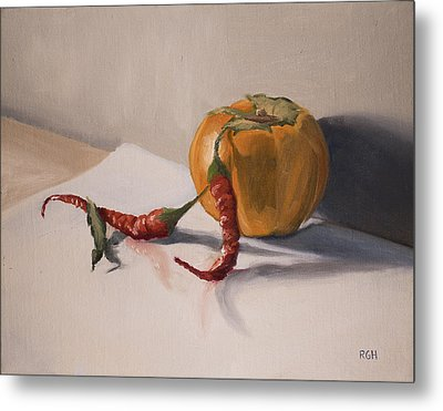 Still Life With Produce Metal Print