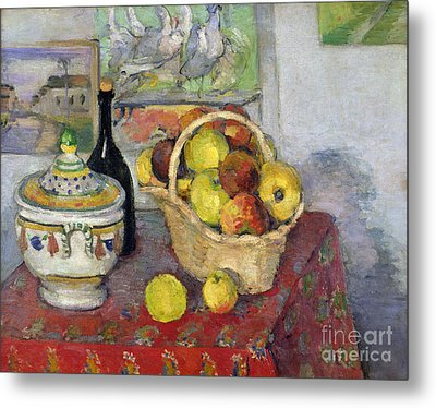 Still Life With Tureen Metal Print by Paul Cezanne