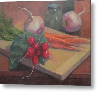 Metal Print featuring the painting Still Life With Turnips by Jennifer Boswell