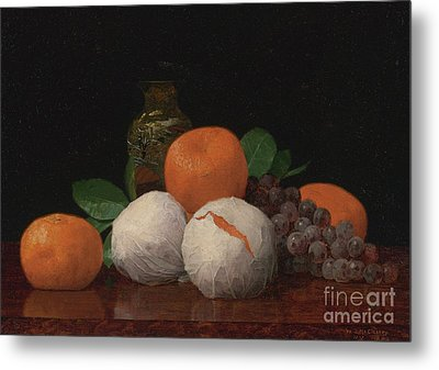 Still Life With Wrapped Tangerines Metal Print